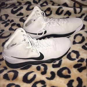 Nike Hyperdunk Basketball Shoes White Black 17.5